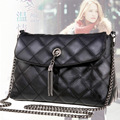Small bags 2016 women's handbag fashion plaid chain bag messenger bag