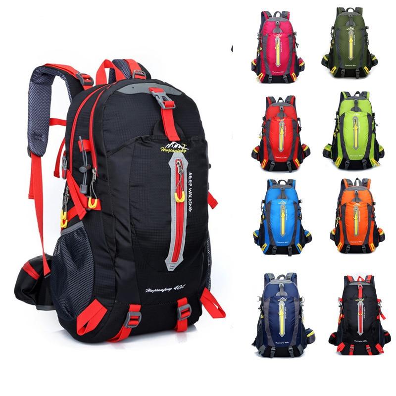 Prix pour Imperméable à l'eau en plein air sac à dos Sport voyage sac 40L Unisexe Alpinisme sac randonnée sac Hommes Femmes Sport loisirs sac à dos
