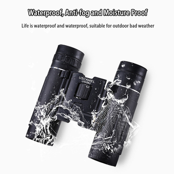 USCAMEL 10x25 Compact Binoculars Folding HD FMC Optics 3