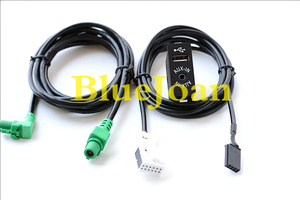 Image 2 - Free shipping BlueJoan GPS Navigation cable USB AUX in Plug Socket Harness Adapter for BMW E39 E46 E38 E53 X5 Z4 E70 Car radio