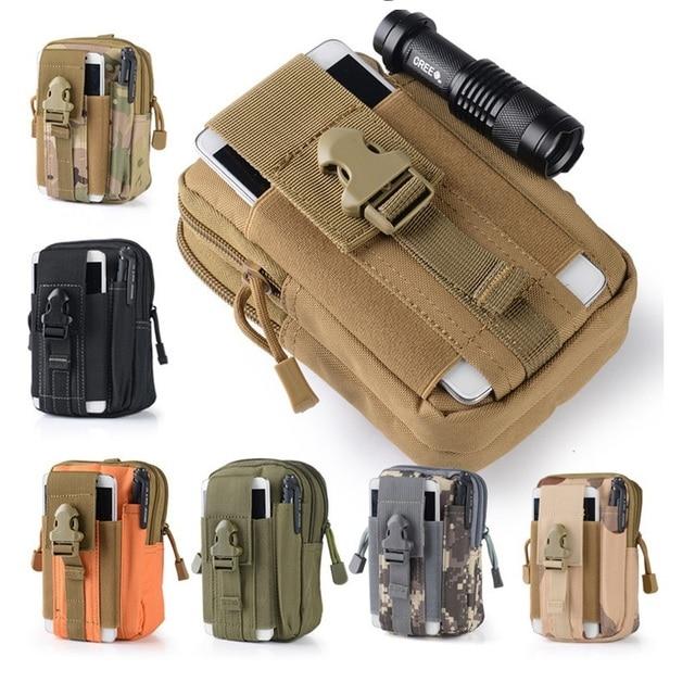 Outdoor Tactical Holster Military Molle Hip Waist Belt Bag Wallet Pouch Purse Zipper Phone Case for Samsung GT-S7390