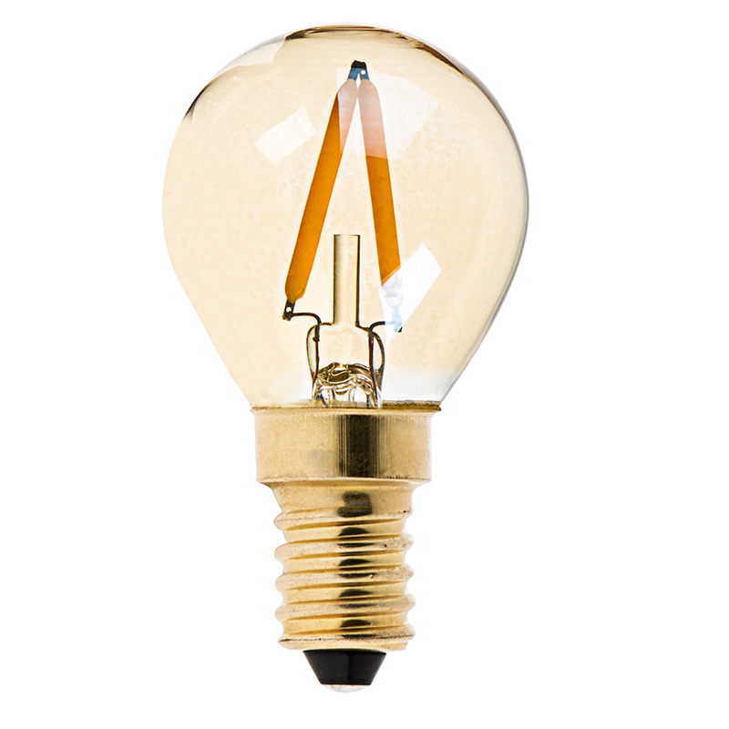 Купить с кэшбэком LED Dimmable Vintage Edison Bulb Golden Tint Filament Bulbs C35T C32T A19 ST45 ST64 G40 G80 G125 Retro LED Lamp 220V E27 Light