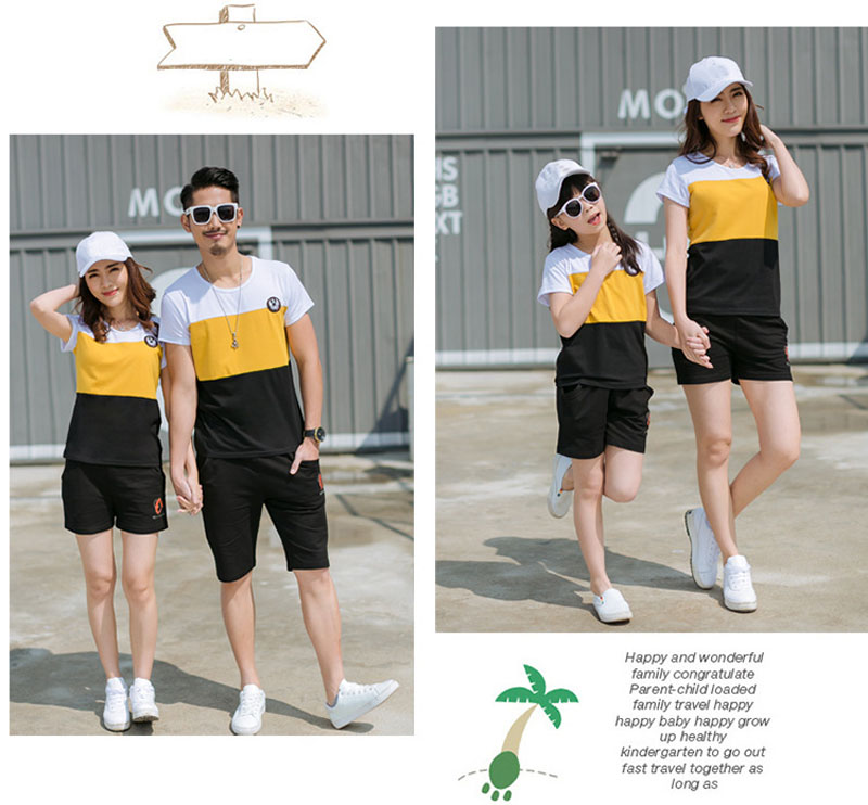 Family Matching Outfits | Boy Mother Daughter Father | Cotton T-Shirts Shorts
