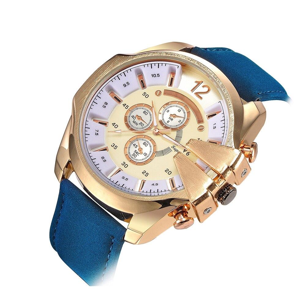 Men Sports Watch Cowboy V6 Watches Male Quartz-Watch Analog Casual Fashion  Military Leather Wrist