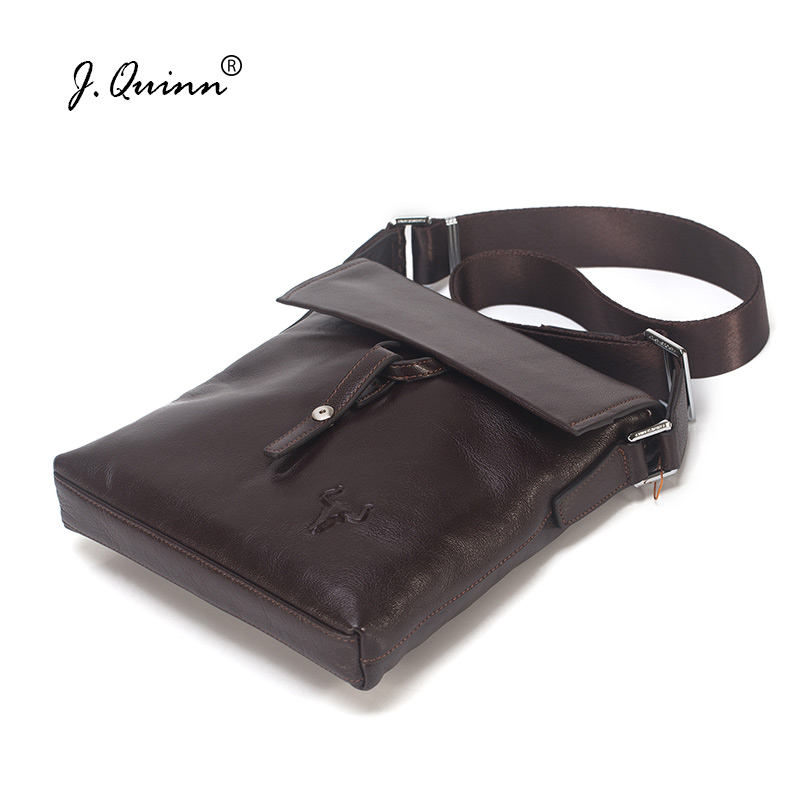 J.Quinn 2017 Man Crossbody Bag Leather Bags for Men Genuine Leather Brand Shoulder Bag Male Retro Style Unique Clamshell BuckleJ.Quinn 2017 Man Crossbody Bag Leather Bags for Men Genuine Leather Brand Shoulder Bag Male Retro Style Unique Clamshell Buckle