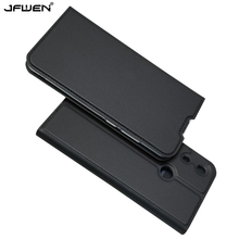JFWEN Luxury Leather Phone Case For Huawei Honor 8A Book Flip Cover Magnet Wallet sFor Coque Pro