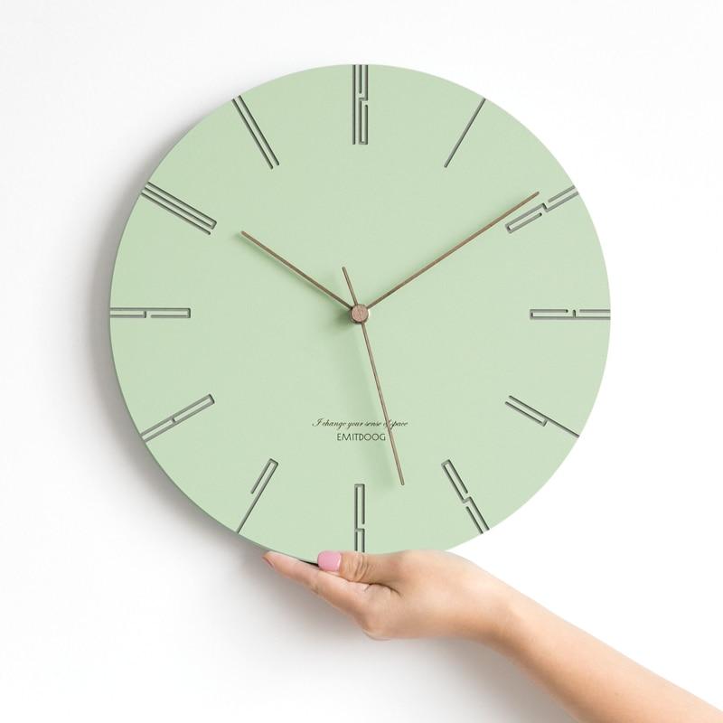שעון קיר בצבעי פסטל 2