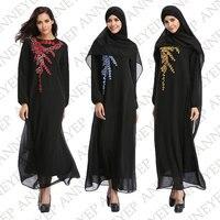 Moyen-Orient Abaya Tradition Musulmane Robe Turc femmes vêtements Islamique Splice vêtements Turquie Tricoté Coton Pull Robes