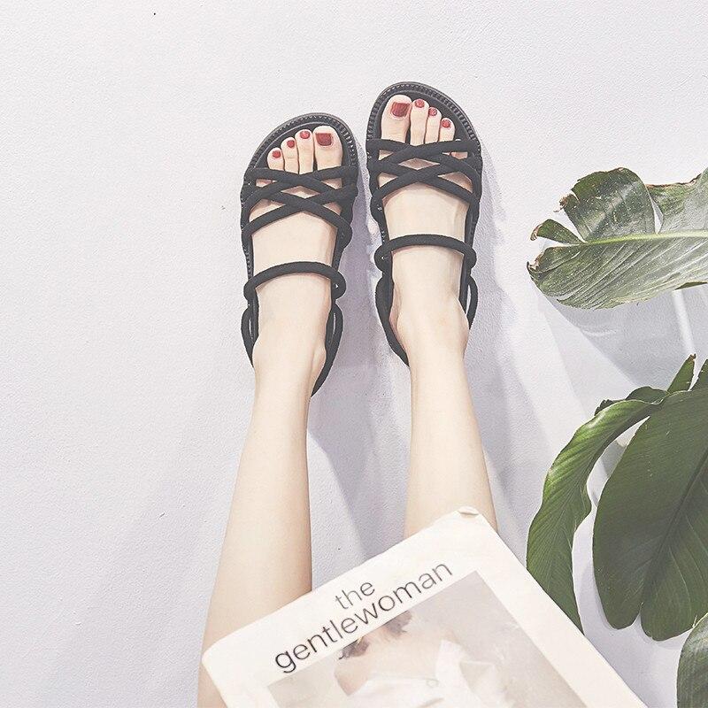 2019 Böhmen Gladiator Strand Flache Beiläufige Sandalen Mode Sommer Frauen Schuhe Komfortable Weibliche Damen Sandalen 17d50 Hohe Belastbarkeit
