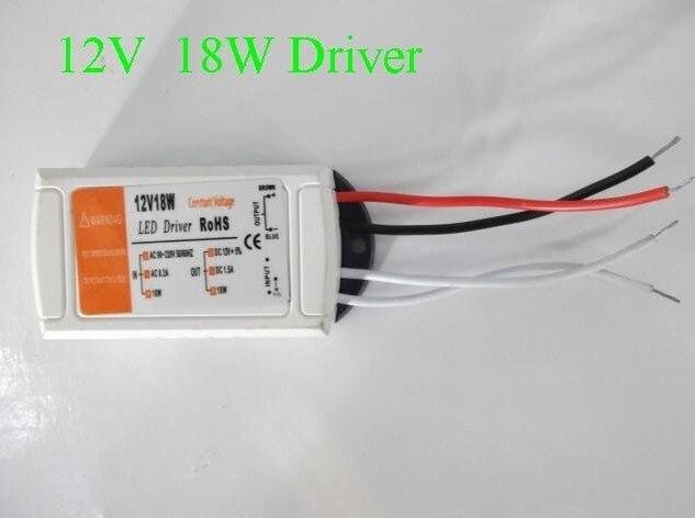 20 шт DC 12 V 1.5A трансформатор для светодиодного освещения светодиодный адаптер постоянного напряжения питания 18 W