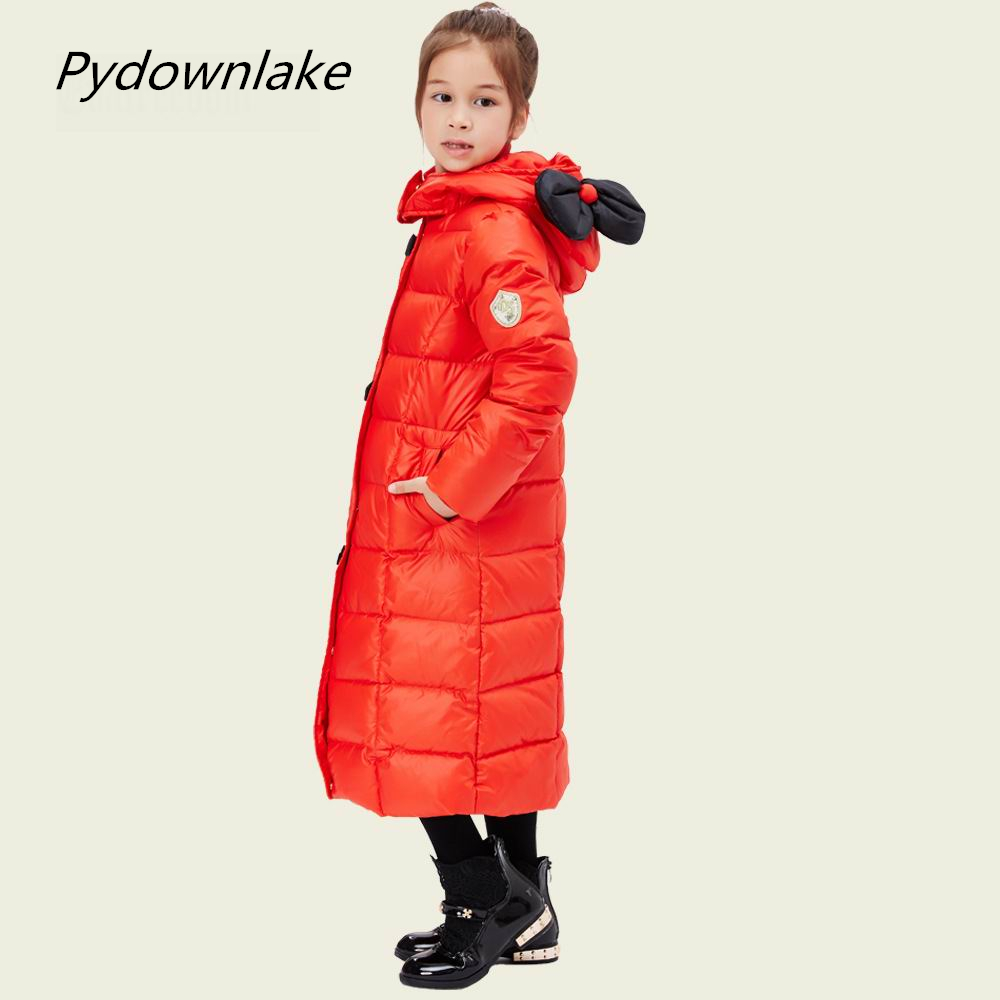 2016 Winter Luxury Brand Children's Clothing Children Down Jacket Thick Warm Super Large Hat with Flower Girls Fashion Warm Coat 2016 brand clothing winter jacket men fashion design hooded thick solid down jacket for men patchwork warm coat size s xxxl