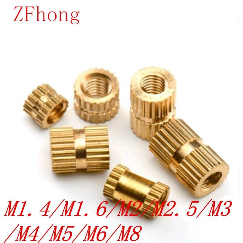 100pcs-50pcs-20pcs-m14-m2-m25-m3-m4-m5-m6-m8-braas-insert-nut-injection-molding-brass-knurled-thread-inserts-nuts