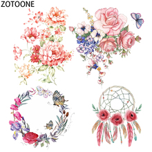 ZOTOONE Simple Flowers Iron on Patches for Clothing Dreamcatchers Heat Transfers Clothes T-shirts Stickers Applications E