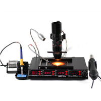 IHUA 1000B 3 Functions in 1 Infrared Bga Soldering machine SMD Hot Air Gun+75W Soldering Irons+540W Preheating Station