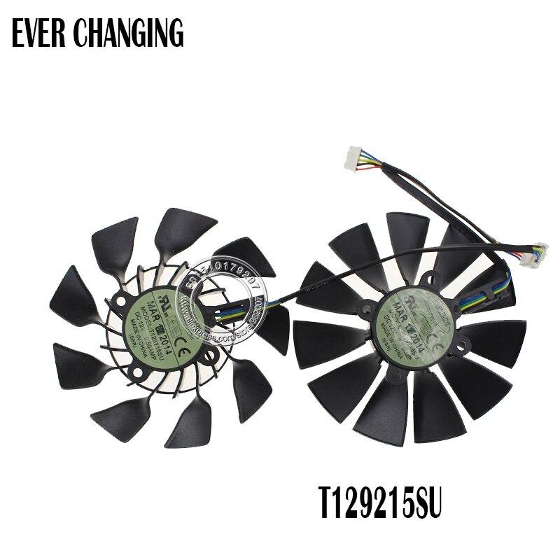 95 MM Original T129215SU DC 12 V 0.5A para ASUS GTX760 780 780TI R9 280 290 R9 280X 290X R9 390 390X GTX970 VGA tarjeta ventilador de enfriamiento