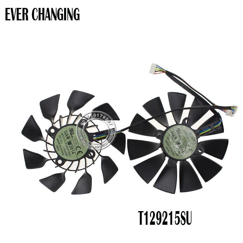 95MM Original T129215SU DC 12V 0.5A For ASUS GTX760 780 780TI R9 280 290 R9 280X 290X R9 390 390X GTX970 VGA Card Cooling Fan