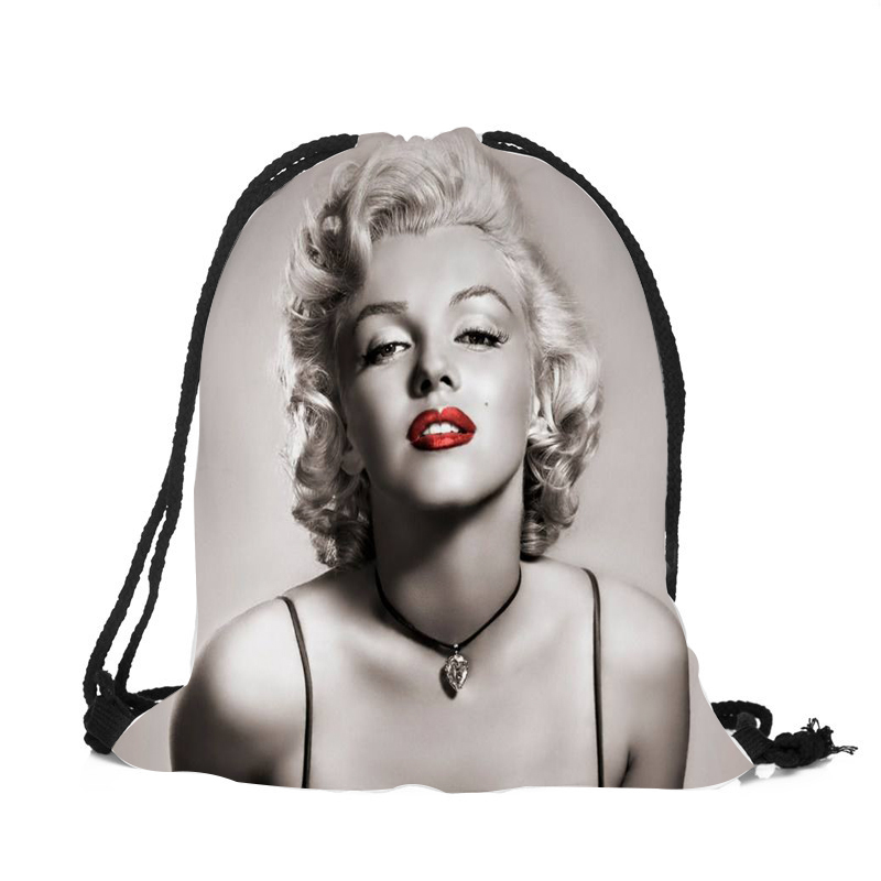 Women Girls Casual String Backpack Marilyn Monroe