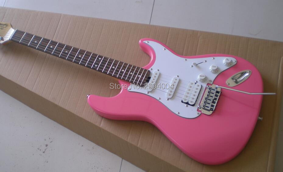 new product the small double wave electric guitar pink real photos custom color the factory. Black Bedroom Furniture Sets. Home Design Ideas