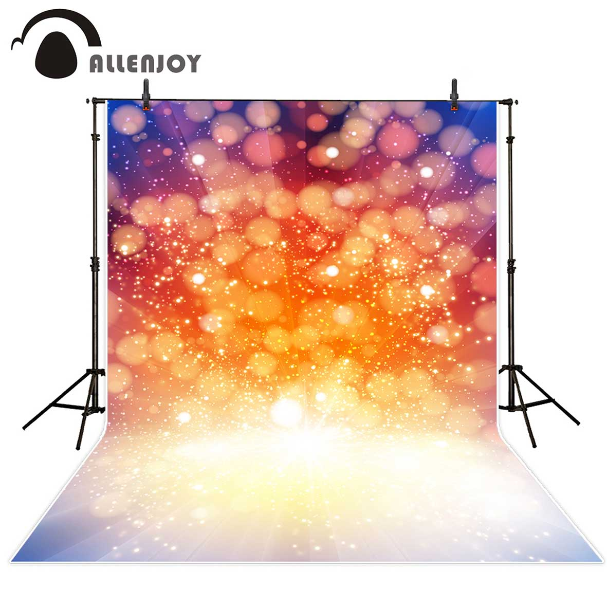 Allenjoy photography backdrops Orange bokeh shiny bubbles glitter Backgrounds for photographing Photo studio funds