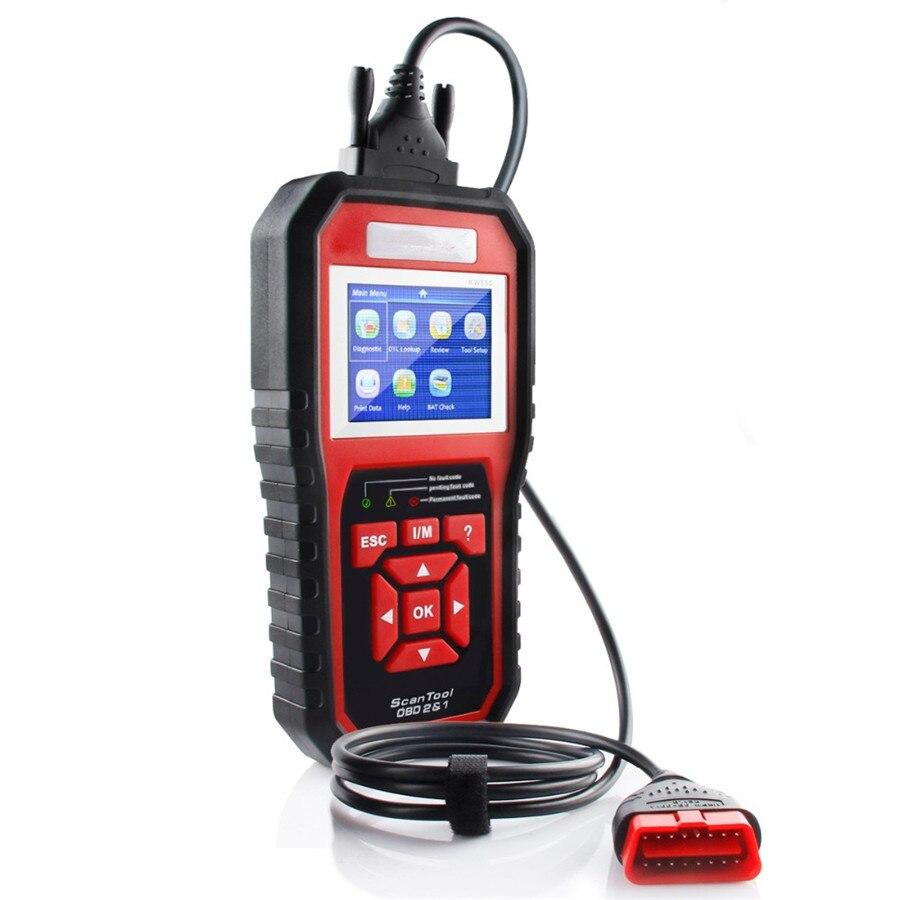 OBD2 автоматический диагностический сканер KW850 сканер Automotivo Autel AL519 диагностический инструмент 8 различных языков для всех автомобилей после ...