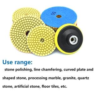 """Image 4 - 1 ชิ้น 3 """"4"""" เปียก/แห้งขัดเพชรแผ่นขัดแผ่นขัดหินอ่อนหินแกรนิตขัดยืดหยุ่นหินกระเบื้องเซรามิคเครื่องมือ"""