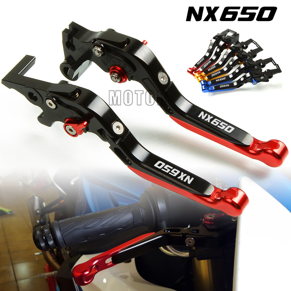 For Honda NX650 J X Dominator 1988 1999 Motorcycle CNC Aluminum Adjustable Folding Extendable Brake Clutch