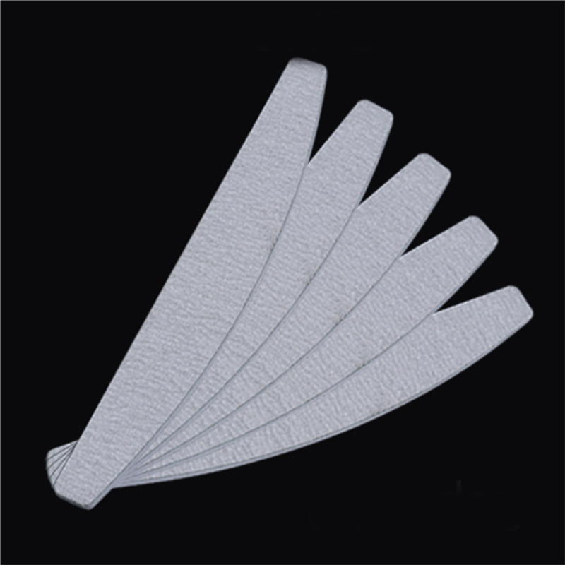 5 PCS 100/180 Grinding Pro Nail File Buffers Tool Set Sanding Curved Emery Board Sandpaper Half Moon Manicure Nail Care Tool 5 pcs half moon shape nail sanding file buffing tool set double sided stick manicure nail tool kit