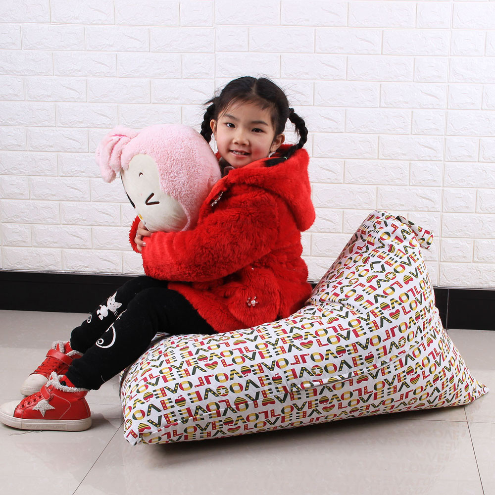 New Kids Knuffel Pluche Speelgoed Opslag Bean Bag Soft Pouch Streep Stof Stoel Groothandel Drop Shipping