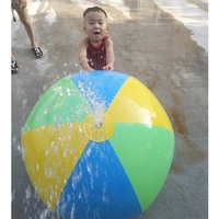 Inflatable Spray Water Ball Children Summer Outdoor Swimming Beach Pool Play Lawn Ball Polo Playing Smash It Toy Funny 4 Hole