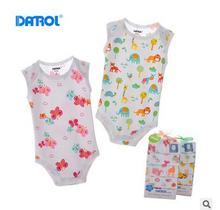 2016 5pcs/lot 100%cotton Baby Boy Clothing Girls Clothes Roupas Bebes Cartoon Printed Striped style Newborn Boy Girl's Jumpsuit