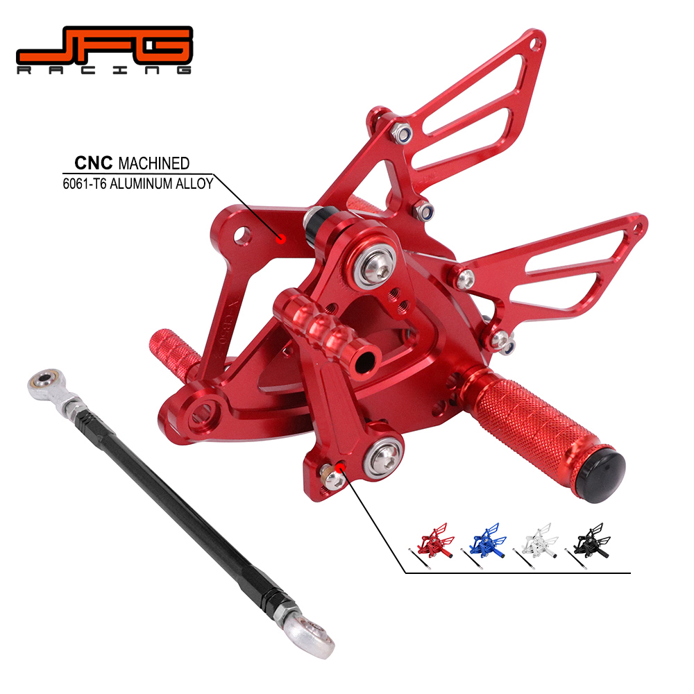 Motorcycle CNC Adjustable Foot Pegs Pedals Rest Rearset Footpegs For HONDA CBR400R CB400F CBR500R CB500F 2013-2017 Street Bike