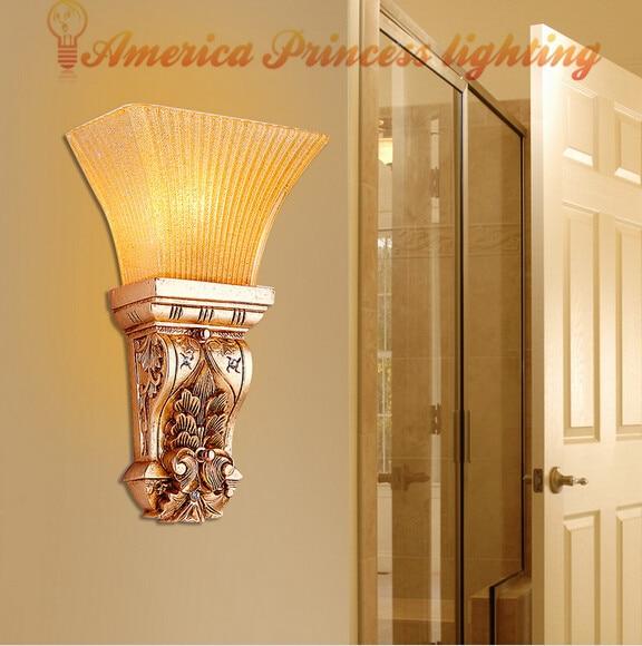 ФОТО Retro wall lamp bedroom bedside wall lamp aisle lights corridor entrance foyer wall lamp, E14, AC110-240V.