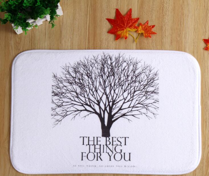 40 60cm Tree Bath Mats Anti-Slip Rugs Coral Fleece Carpet For Bathroom  Bedroom Doormat Online 206a83364cbfa