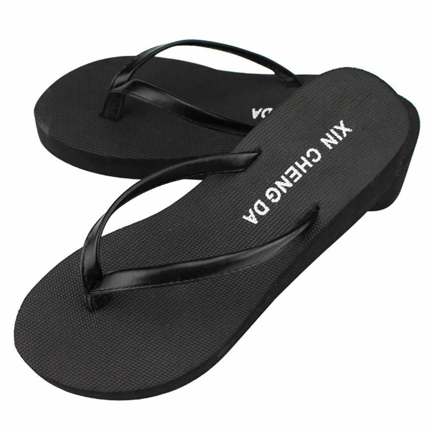 f8e126ea79455 New Arrival Casual Summer Girls Wedge Platform Flip Flops Women Beach  Sandals Slippers indoor   outdoor