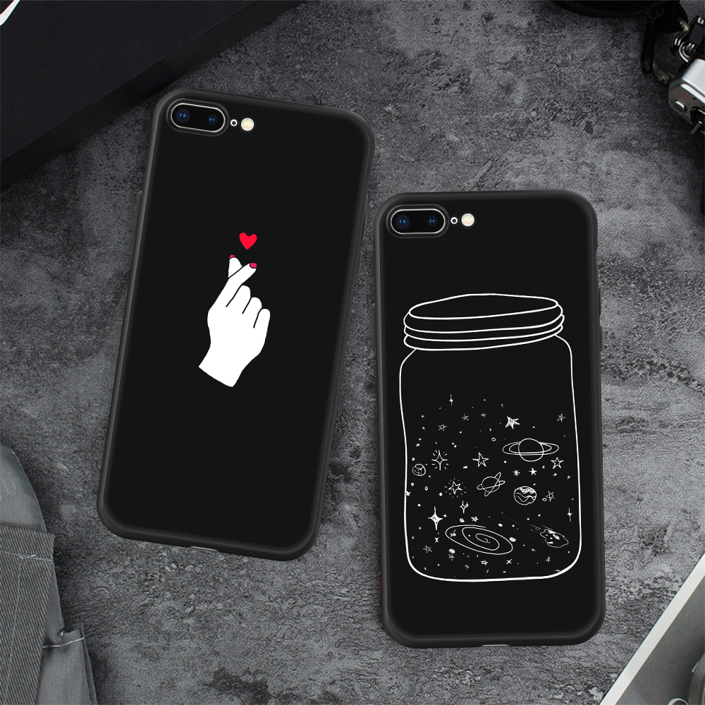 , Fashion Space Phone Case For iPhone X 8 7 6 6S Plus 5 5S SE Planet Moon Star spider Silicone Case For iPhone X 8 7 6 6S 5 5S SE