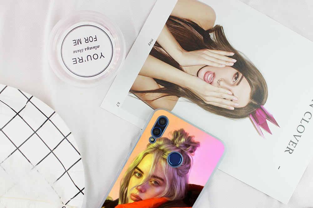Billie Eilish Горячая музыка певица звезда мягкий чехол для Huawei Honor 9 10 Lite 6X 7X 8X Max телефонные чехлы 7A 8A 8C V20 PLAY 10i