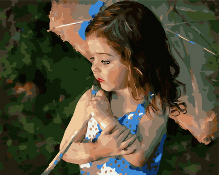 Frameless painting by numbers paint by numbers for home decor  PBN for living room 4050 a child thumbnail