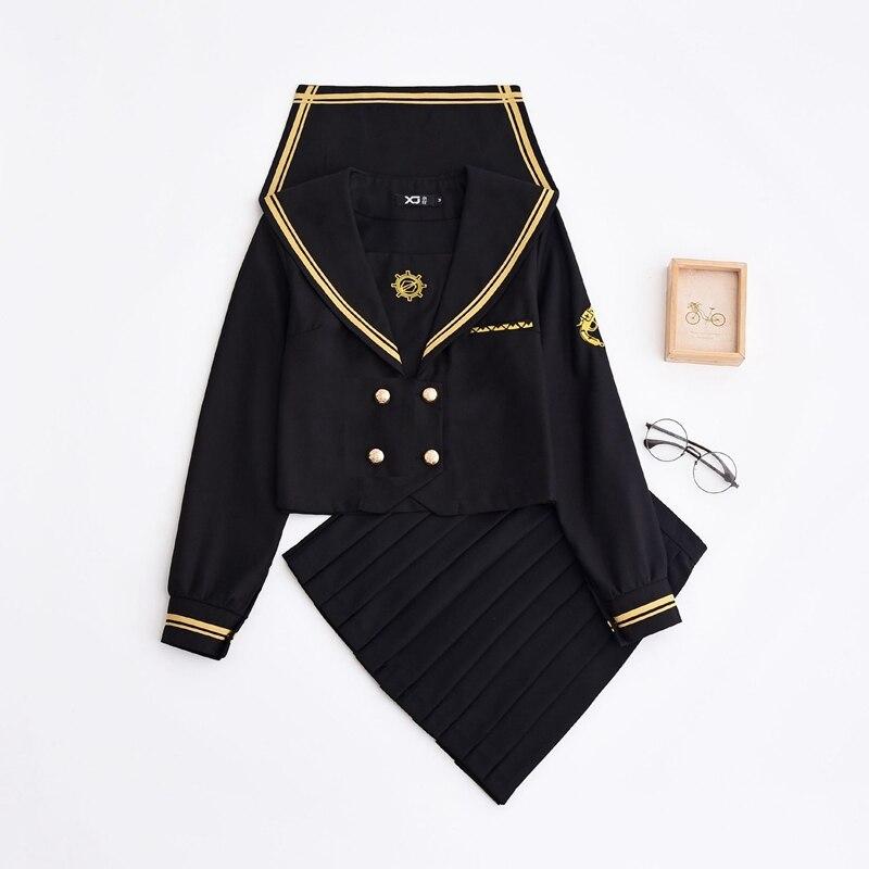 Anime Style japonais JK uniforme filles mignonnes marin costume collège étudiant école costume Cos Costumes
