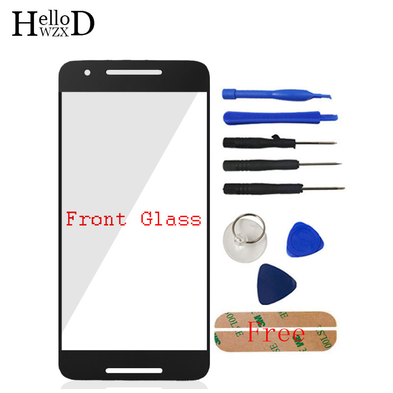 A+++ Front Glass For Huawei Google Nexus 6P 6 P H1511 H1512 Front Outer Glass Lens Cover (No Touch Screen Digitizer)