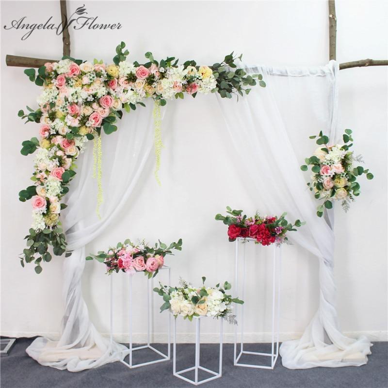 1 2m Wedding arch backdrop flower arrangement party event house decor artificial flower wall silk rose