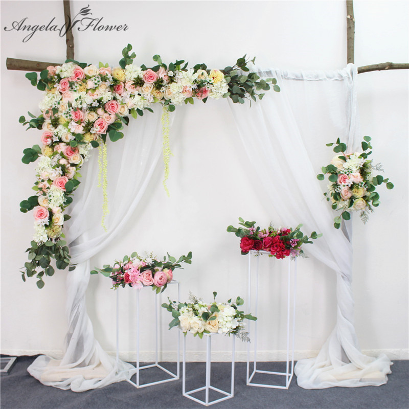 1.2m Wedding arch backdrop flower arrangement party event house decor artificial flower wall silk rose peony plant DIY garland-in Artificial & Dried Flowers from Home & Garden    1