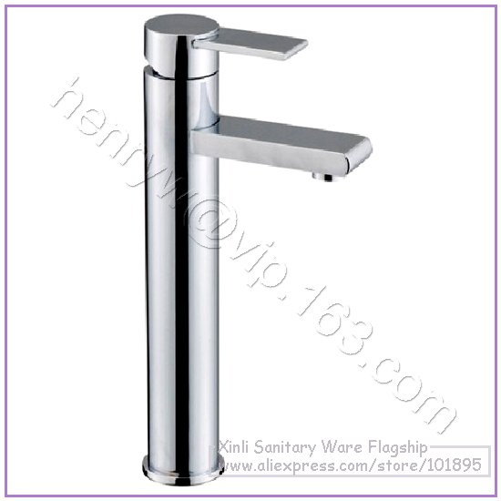 L15081 - Luxury Deck Mounted Chrome Color Brass Tall Basin TapL15081 - Luxury Deck Mounted Chrome Color Brass Tall Basin Tap