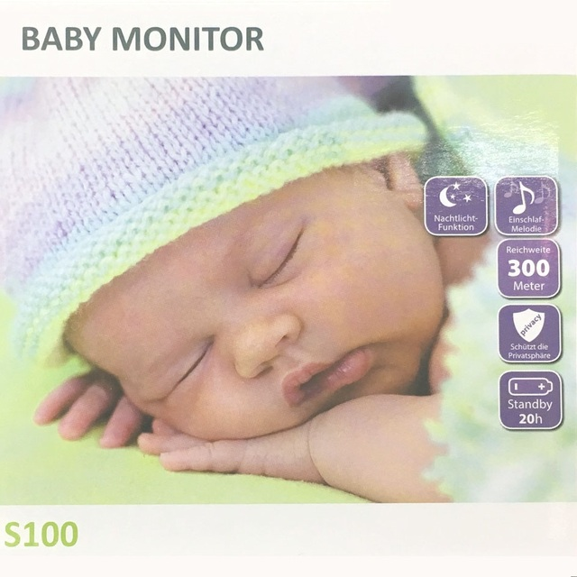 Audio baby monitor IR Blue night light 3 Lullabies Rechargeable Batteries baba electronics digital baby monitor fetal doppler