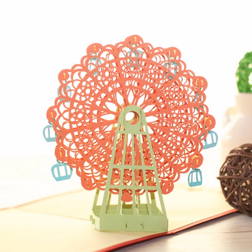 Diy 3d greeting card with envelope pop up cute birthday gift cards diy 3d greeting card with envelope pop up cute birthday gift cards ferris wheel valentine day handmade souvenir 2016 in cards invitations from home kristyandbryce Images