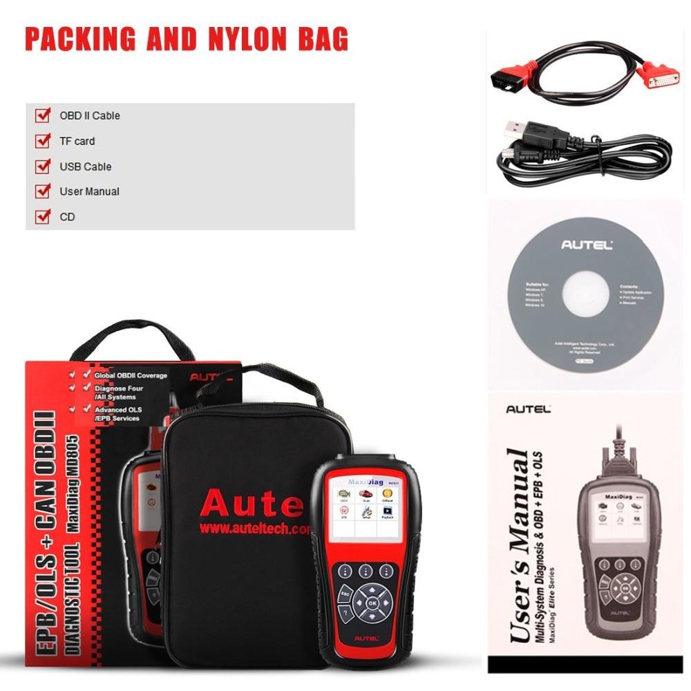 Image 5 - New Autel MaxiDiag MD805 Full System OBD2 Scanner Car Diagnostic Tool Code Reader Scaner better than Autel MD802 Update Online