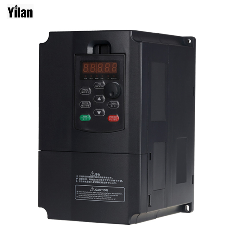 Freeshipping  VFD inverters 5500watt 7.5Horse Power 13A 380V AC Variable Frequency Drives for speed control 5.5KW motor 0-400Hz