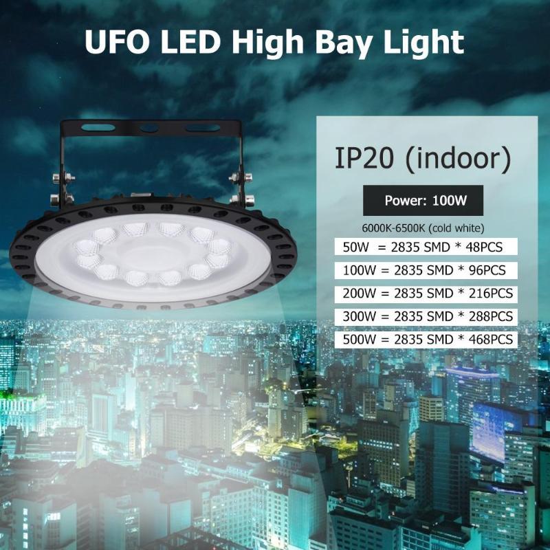 UFO LED High Bay Light 50W 100W 200W 300W 500W Factory Warehouse Floodlight IP65