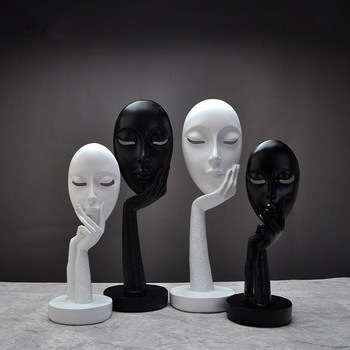Creative art mask portrait sculpture handicraft ornaments living room TV cabinet office decoration Love crafts