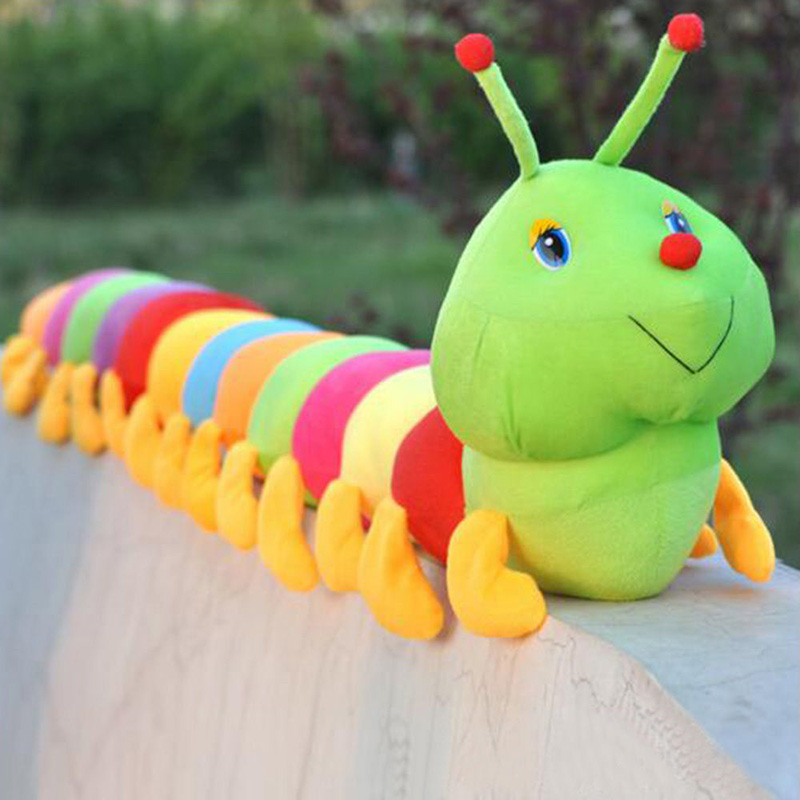 Lovely inchworm lágy színes hernyók tartsa baba baba gyerekek plüss játékok