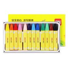 Deli качественные 12 видов цветов восковые карандаши набор милый